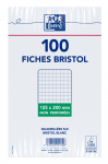 OXFORD Index Cards - 12,5x20cm - Shrink-wrapped - Unpunched - 5mm Squares - 100 Cards - White - 100101367_1100_1595580202
