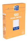 OXFORD Index Cards - A6 - Boxed - Hole-punched - 5mm Squares - 100 Cards - White - 100101713_1300_1595581180