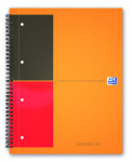 Oxford International Filingbook - A4+ - 6 mm liniert - 100 Blatt - Doppelspirale - Hardcover - SCRIBZEE® kompatibel - Orange - 100102000_1100_1583238017