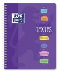 OXFORD HOMEWORK NOTEBOOK - 17x22cm - Soft card cover - Twin-wire - Seyès Squares - 148 pages - Assorted colours - 100102226_1100_1583238084
