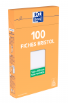 OXFORD Index Cards - 12,5x20cm - Boxed - Unpunched - Plain - 100 Cards - White - 100102293_1300_1595583194