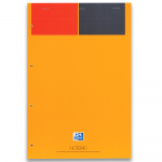 OXFORD International Notepad - A4+ - Card Cover - Stapled - Narrow Ruled - 160 Pages - SCRIBZEE® Compatible - Orange - 100102359_1100_1610038263