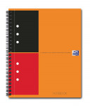 OXFORD International Notebook - A5+ - Harde kartonnen kaft - Dubbelspiraal - Gelijnd - 80 vel - SCRIBZEE® Compatible - Oranje - 100102680_1101_1583238270
