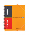 OXFORD International Meetingbook - A5+ - Polypropylene Cover - Twin-wire - Narrow Ruled - 160 Pages - SCRIBZEE® Compatible - Orange - 100103453_1100_1583238571