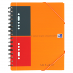 OXFORD International Meetingbook - A5+ - PP kaft - Dubbelspiraal - Gelijnd - 80 vel - SCRIBZEE® Compatible - Oranje - 100103453_1100_1602578260