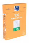 OXFORD Index Cards - A6 - Boxed - Unpunched - 5mm Squares - 100 Cards - White - 100103459_1300_1595583172