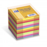 OXFORD Cube Refill + Container - 9x9cm - Plain - 680 Sheets - Assorted Colours - 100103783_1300_1583238639