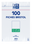 OXFORD Index Cards - A4 - Shrink-wrapped - Unpunched - Plain - 100 Cards - White - 100103795_1100_1595580209