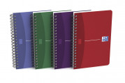 OXFORD Office Essentials Notebook - 11x17cm - Soft Card Cover - Twin-wire - 5mm Squares - 180 Pages - Assorted Colours - 100103841_1400_1583238669
