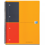 OXFORD International Notebook - A4+ - Hardback Cover - Twin-wire - Narrow Ruled - 160 Pages - SCRIBZEE® Compatible - Orange - 100104036_1100_1610038472