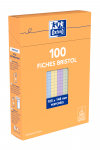 OXFORD Index Cards - A6 - Boxed - Unpunched - 5mm Squares - 100 Cards - Assorted - 100104124_1300_1595585227