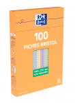 OXFORD Index Cards - A5 - Boxed - Unpunched - 5mm Squares - 100 Cards - Assorted - 100104209_1300_1595593714