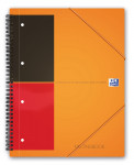 OXFORD International Meetingbook - A4+ - PP kaft - Dubbelspiraal - Gelijnd - 80 vel - SCRIBZEE® Compatible - Oranje - 100104296_1102_1583238850
