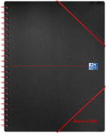 Oxford Black n' Red A4+ Poly Cover Wirebound Meeting Book Ruled with Margin 160 Page Black Scribzee-enabled -  - 100104323_1100_1554292114