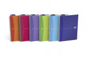 OXFORD Office My Colours Notebook - A4 - Polypropylene Cover - Twin-wire - Seyès - 180 Pages - SCRIBZEE® Compatible - Assorted Colours - 100104613_1401_1583239002