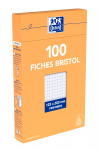 OXFORD Index Cards - 12,5x20cm - Boxed - Hole-punched - 5mm Squares - 100 Cards - White - 100105278_1300_1595582193