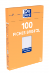 OXFORD Index Cards - A4 - Boxed - Hole-punched - 5mm Squares - 100 Cards - White - 100105313_1300_1595582199