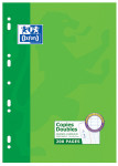 OXFORD CLASSIC DOUBLE SHEETS - A4 - Cardboard Box  - Seyès squares - 200 punched pages - 100105681_1100_1583165570