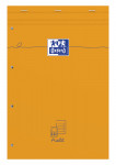 OXFORD Orange Notepad - A4+ - Stapled - Coated Card Cover - Audit Ruling - 160 Pages - SCRIBZEE® Compatible - Orange - 100106294_1100_1583239514