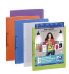 OXFORD POLYVISION RING BINDER - A4 - 30 mm spine - 2-O rings - Polypropylene - Translucent - Assorted colors - 100201407_8000_1561555343