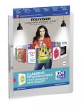 OXFORD POLYVISION RING BINDER - A4 - 30 mm spine - 2-O rings - Polypropylene - Translucent - Clear - 100201408_8000_1561556042