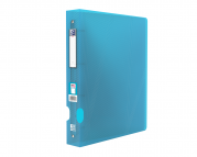 OXFORD HAWAI RING BINDER - A4+ - 40 mm spine - 4-O rings - Polypropylene - Translucent - Blue - 100201755_1300_1586054271