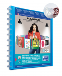 OXFORD POLYVISION DISPLAY BOOK REMOVABLE POCKETS - A4 - 20 Variozip pockets - Polypropylene - Blue - 100205599_8000_1561556112
