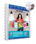 OXFORD POLYVISION DISPLAY BOOK REMOVABLE POCKETS - A4 - 20 Variozip pockets - Polypropylene - Clear - 100205600_1300_1589821442