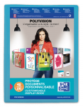 OXFORD POLYVISION DISPLAY BOOK - A4 - 20 pockets - Polypropylene - Translucent - Blue - 100206087_8000_1577452240