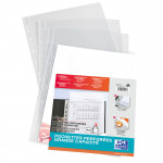OXFORD PUNCHED POCKETS - Bag of 10 - A4+ - Polypropylene - 140µ - Smooth - Clear - 100206867_8000_1561787024