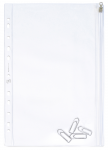 OXFORD ZIPPED PUNCHED POCKETS - 30,5X17cm -  PVC - 140µ - Smooth - Clear - 100206972_8000_1572883581