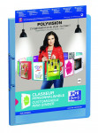 OXFORD POLYVISION RING BINDER - A4 - 30 mm spine - 2-O rings - Polypropylene - Translucent - Blue - 100210006_8000_1562145180