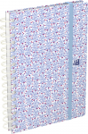 SEMAINIER 15 X 21 cm FLOWERS - Civil 2021 - Reliure spirale - Décor bleu - 100739648_1100_1564044517
