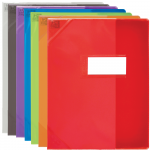 PROTEGE-CAHIER OXFORD STRONG LINE - 17x22 - Avec marque page - PVC - 150µ - Translucide - Couleurs assorties - 400006810_8000_1572883617