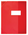 PROTEGE-CAHIER OXFORD STRONG LINE - 17x22 - Avec marque page - PVC - 150µ - Translucide - Rouge - 400006814_8000_1561566368