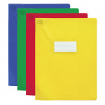 PROTEGE-CAHIER OXFORD STRONG LINE - 17x22 - Avec marque page - PVC - 150µ - Opaque - Couleurs assorties - 400006823_8000_1561566417