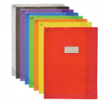PROTEGE-CAHIER OXFORD STRONG LINE - 24x32 - Avec marque page - PVC - 150µ - Translucide - Couleurs assorties - 400006839_8000_1572883634
