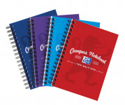 Oxford Campus A6 Card Cover Wirebound Notebook Ruled 140 Pages Assorted -  - 400013923_1200_1553646493