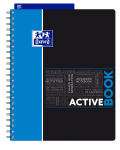OXFORD STUDENTS ACTIVEBOOK Notebook - A4+ - Polypro cover - Twin-wire - 5mm Squares - 160 pages - SCRIBZEE® compatible - Assorted colours - 400019520_1100_1583240361