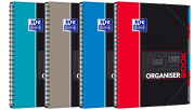 OXFORD STUDENTS ORGANISERBOOK Notebook - A4+ - Polypro cover - Twin-wire - 5mm Squares - 160 pages - SCRIBZEE® compatible - Assorted colours - 400019524_1200_1583240389