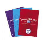 Oxford Campus A4 Sidebound Refill Pad Ruled with Margin 300 Pages Assorted -  - 400033050_1200_1600868715