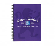 Oxford Campus A5+ Card Cover Wirebound Notebook Ruled with Margin 140 Pages Purple -  - 400035950_1100_1561077139