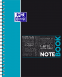 OXFORD STUDENTS NOTEBOOK - A4+ - Hardback cover - Twin-wire - 5mm Squares - 160 pages - SCRIBZEE® compatible  - Assorted colours - 400037406_1100_1583240889