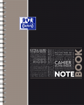 OXFORD STUDENTS NOTEBOOK - A4+ - Hardback cover - Twin-wire - 7mm Ruled - 160 pages - SCRIBZEE® compatible  - Assorted colours - 400037407_1103_1583240898