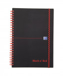 OXFORD Black n' Red Notebook - A5 - Polypropylene Cover - Twin-wire - Ruled - 140 Pages - SCRIBZEE® Compatible - Black - 400047655_1100_1583164340