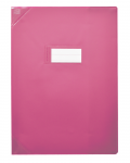 PROTEGE-CAHIER OXFORD STRONG LINE - 17X22 - PVC - 150µ - Opaque - Rose - 400050968_8000_1562153144