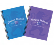 Oxford Campus A5+ Purple/Blue PP Cover Wirebound Notebook Ruled with Margin 140 Pages -  - 400060197_1200_1553649651