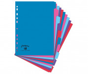 Oxford Campus A4 10 Part Card Dividers Assorted -  - 400061116_1100_1561077091