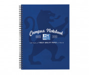 Oxford Campus A4+ Card Cover Wirebound Notebook Ruled with Margin 140 Pages Navy -  - 400062641_1100_1561077111
