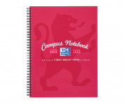 Oxford Campus A4+ Card Cover Wirebound Notebook Ruled with Margin 140 Pages Pink -  - 400066527_1100_1561077115